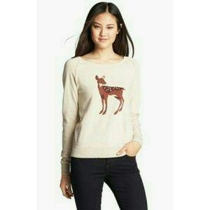 NWOT Halogen SP Deer Sweater